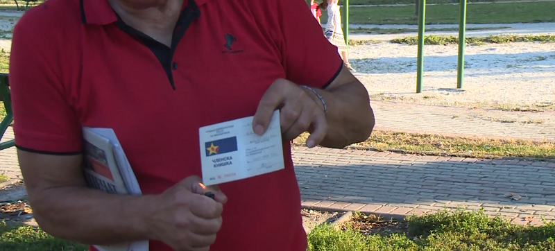 After 20 years of running for SDSM, it is a humiliation for me to have this membership card at home, says a revolted man from Gostivar