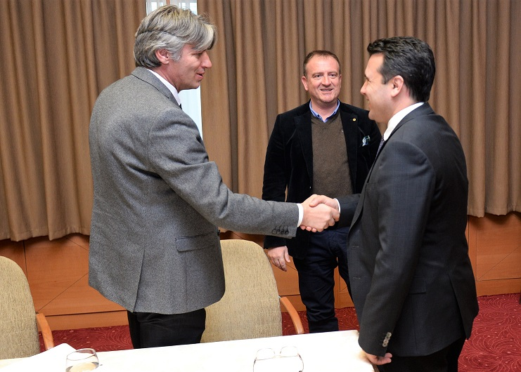 Zaev met with the Alliance of Albanians to discuss possible coalition terms