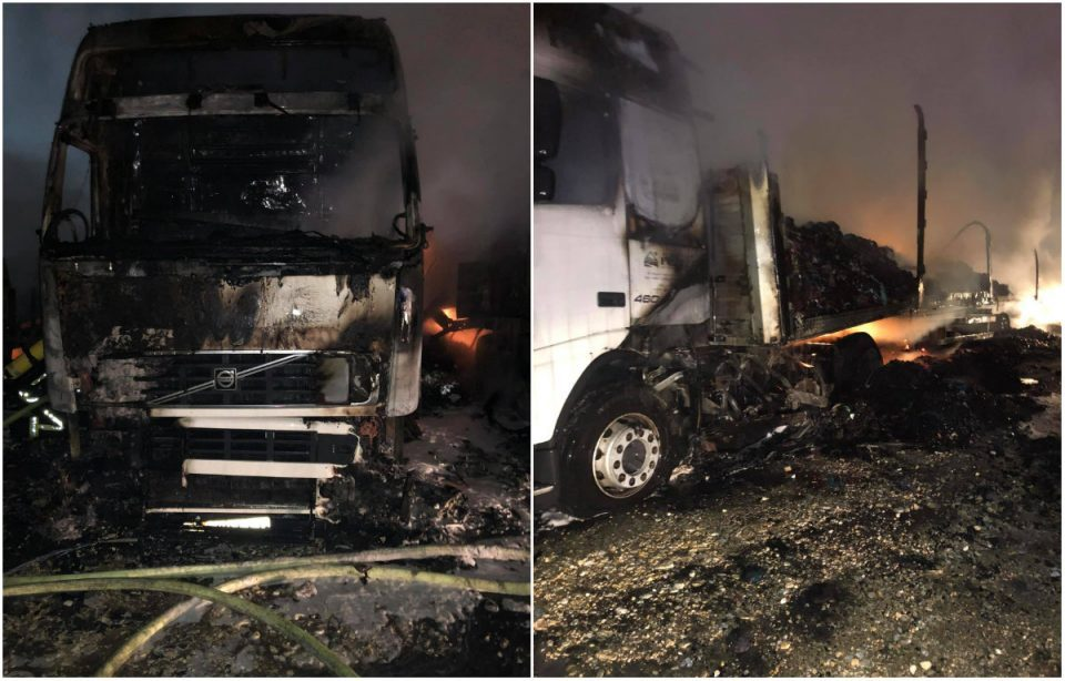 Owner of four trucks that were set on fire in Skopje says he was deliberately targeted