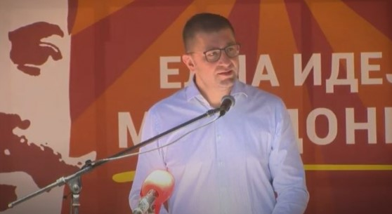 Mickoski says that calls for his removal come from people blackmailed by Zaev