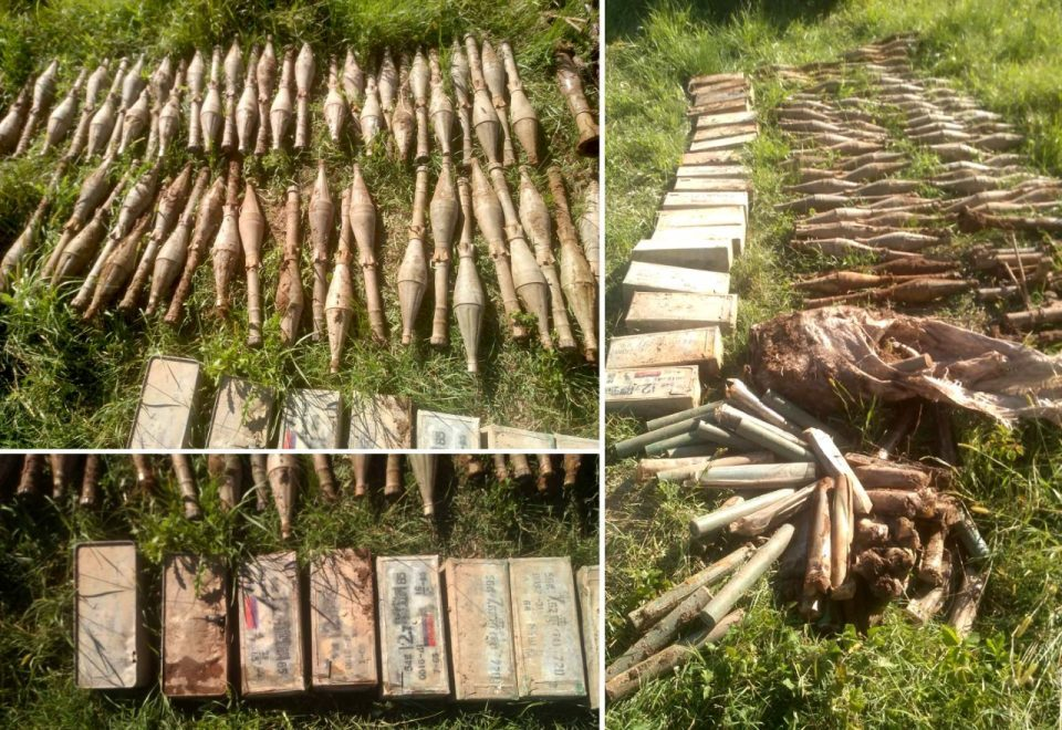 Police found a large cache of grenades and machine gun ammunition near Struga
