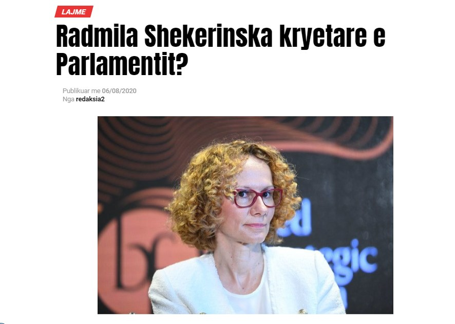 SDSM reportedly plans to propose Sekerinska as Speaker of Parliament