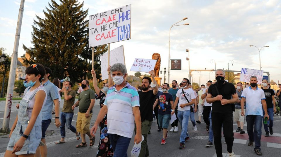 Protest against electricity price hike in Skopje