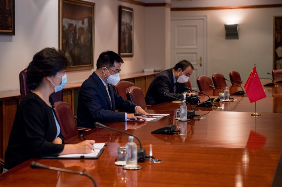 Spasovski meets Chinese Ambassador Zuo to discuss the epidemic and future cooperation