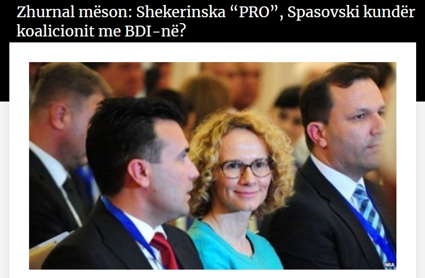 Zhurnal: Sekerinska is pushing SDSM toward a coalition with DUI, Oliver Spasovski is opposed