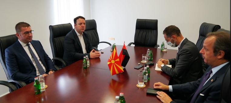 Crime and corruption run rampant in Macedonia, Mickoski says during meeting with Italian Ambassador Romeo