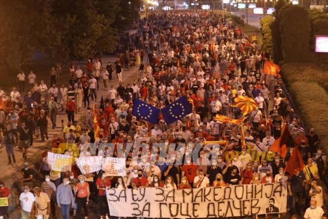 Huge number of people join VMRO-DPMNE's protest for Goce Delcev