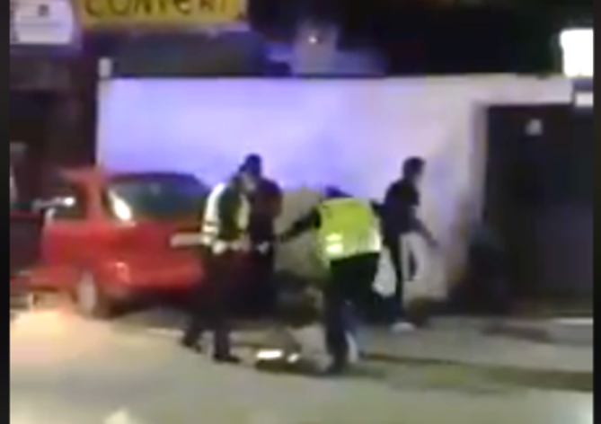 Shocking video shows brutal police attack on a Roma man