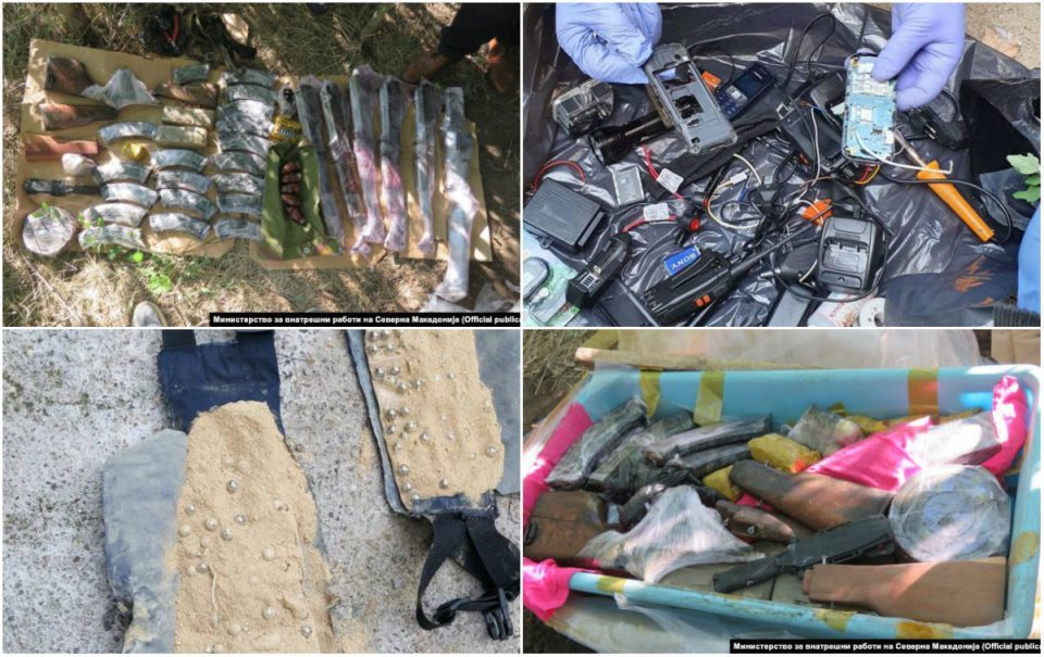 The Islamist group was storing its weapons and explosives south of Kumanovo, police reveals