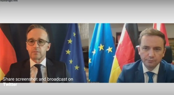 Germany's Maas says he supports opening of EU accession talks by the end of 2020, calls on Macedonia and Bulgaria to resolve bilateral issues