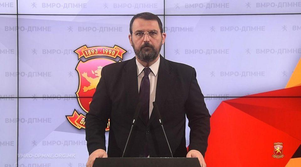 Order issued for forcible arrest of VMRO-DPMNE spokesman Naum Stoilkovski
