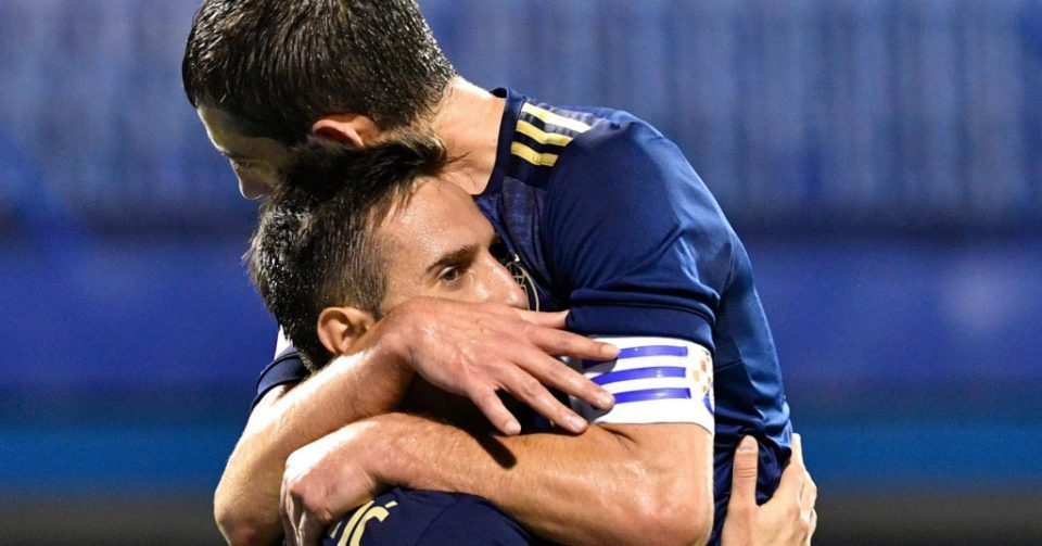 Ademi scores for Dinamo in its 3:1 win over Flora