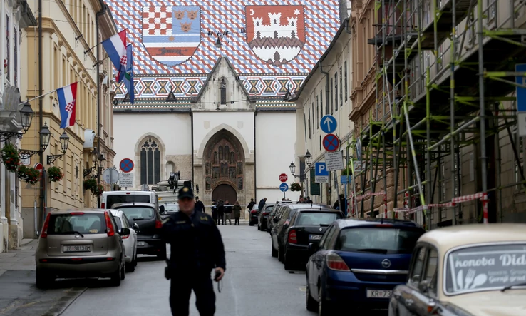 Croatian officer injured in an attack in front of the Government building