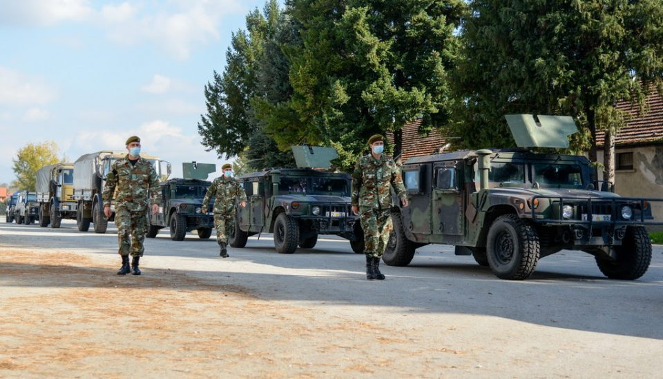 First contingent of Macedonian peacekeepers in KFOR leaves for Kosovo