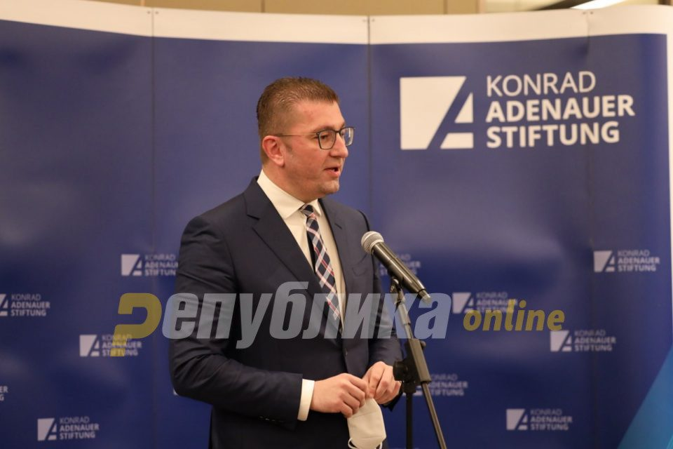 Mickoski demands urgent formation of a government composed of experts