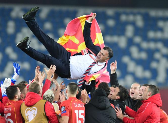 Macedonia celebrates historic football win