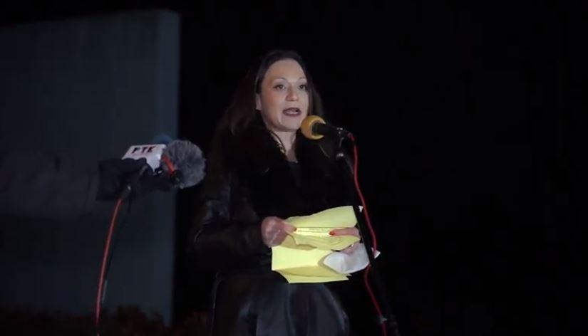 Rasela Mizrahi spoke from the site of the Vatasa massacre