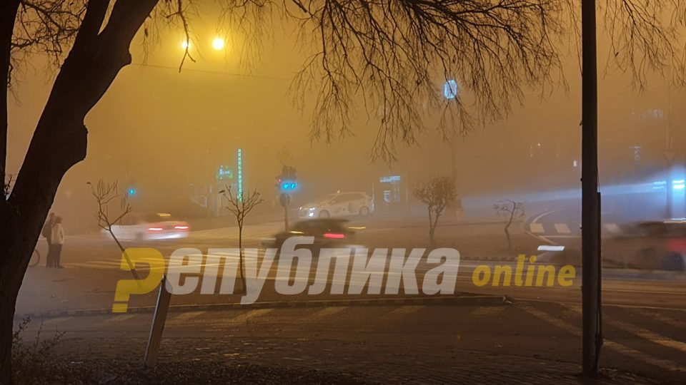 Kavadarci records the worst levels of air pollution this evening, Skopje close behind