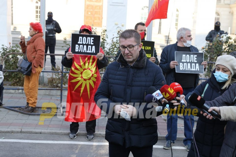 Mickoski: Only a political amateur like Zaev could agree that the EU progress of Macedonia is tied to our reading of history