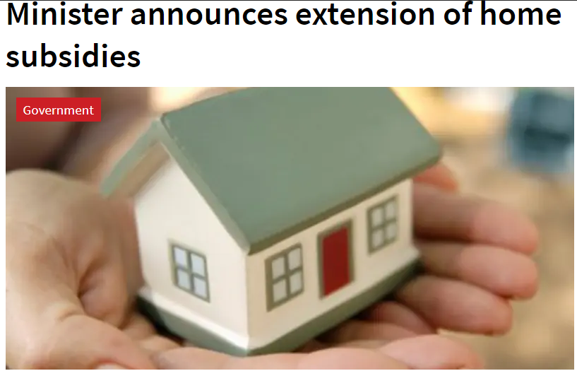 V4: Hungarian Minister announces extension of home subsidies