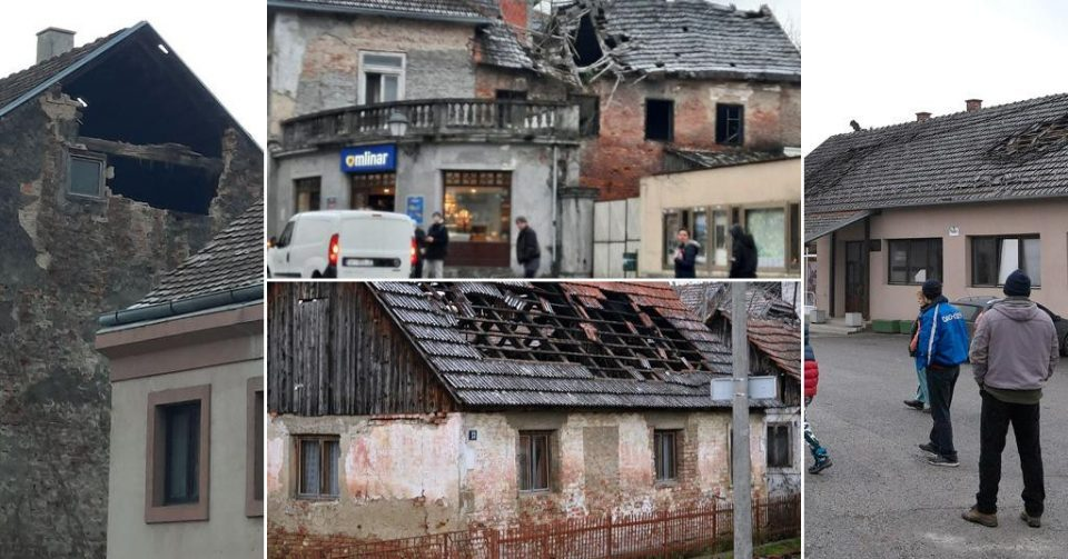 Croatian military helping Petrinja residents clear up earthquake damage