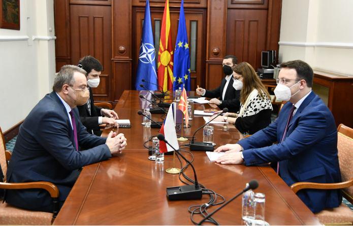 Nikoloski meets Czech Ambassador: Czech Republic strongly supports Macedonia's EU integration