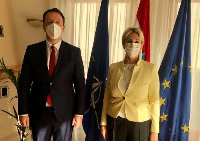Nikoloski meets Croatian Ambassador: Croatia provides support for positive affirmation of the country's EU integration path