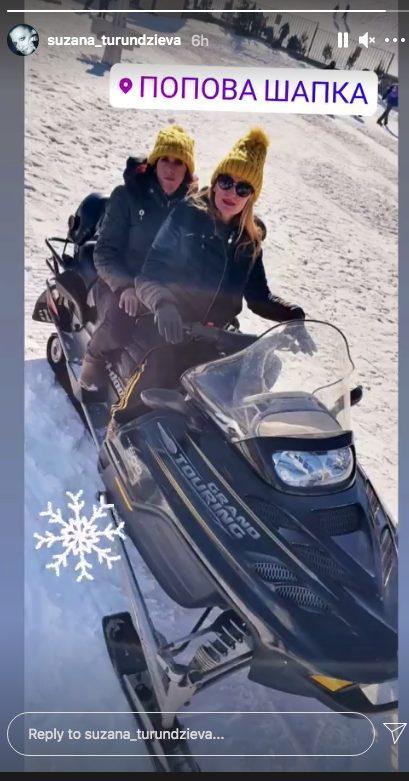 Oscar star Atidze celebrated her birthday with a snowmobile ride