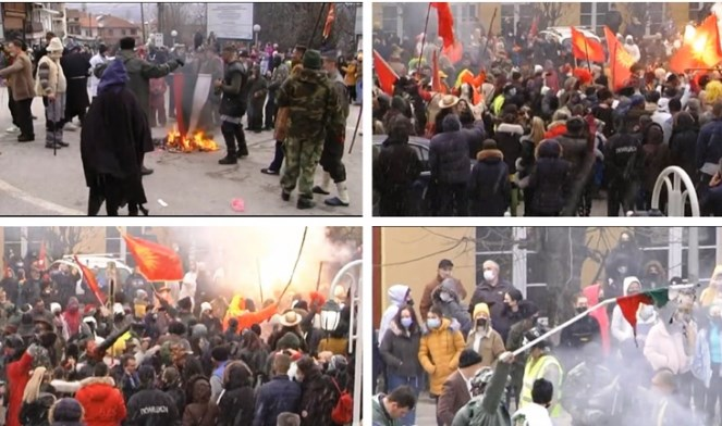 Bulgaria protests the burning of its flag during the carnival in Vevcani