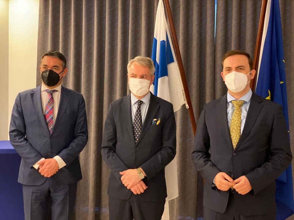Dimitrov and Osmani meet Swedish and Finnish FMs in Brussels
