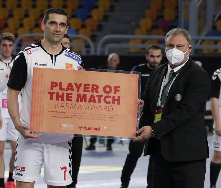 Kiril Lazarov scored his 500th goal at a major tournament