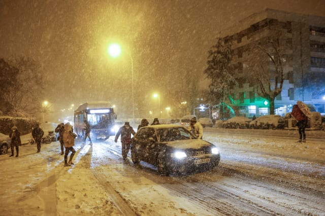Spain mourns four victims of storm Filomena due to record snowfall