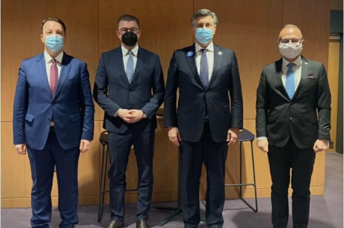 Mickoski met with Croatian Prime Minister Plenkovic
