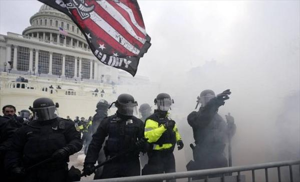 Protesters in control of the US Capitol building