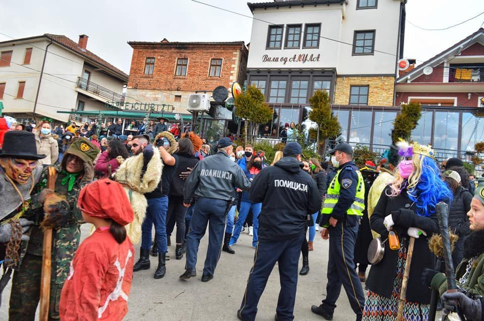 Man from Vevcani faces a year in prison for participating in the carnival and recording the police raid