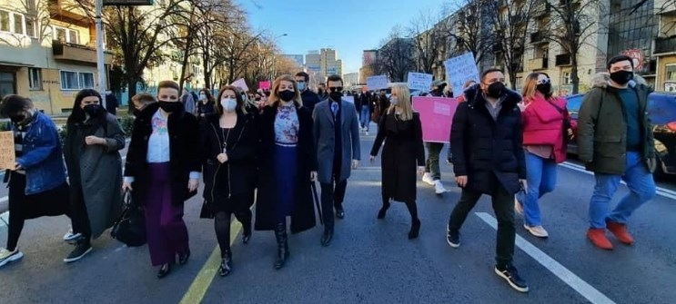 Protest against online harassment of women in Skopje, VMRO-DPMNE came out in support of the protesters
