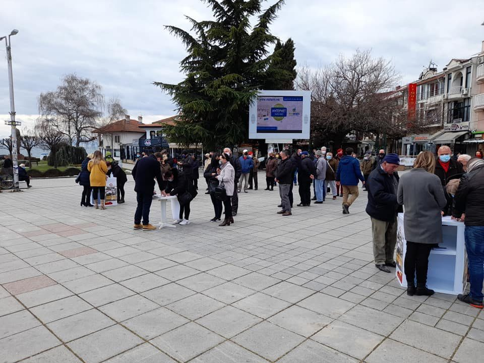 People of Ohrid are massively signing the initiative to nullify the census law