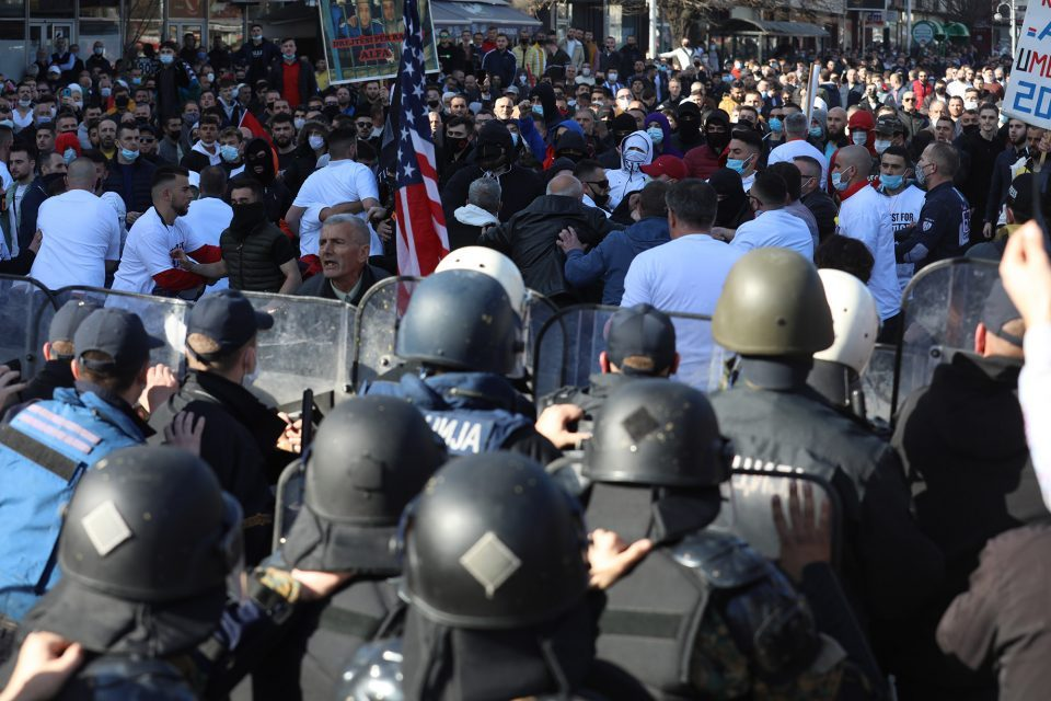 Albanian opposition parties demand release of detained violent protesters, remind Zaev of his own riots during the Colored Revolution