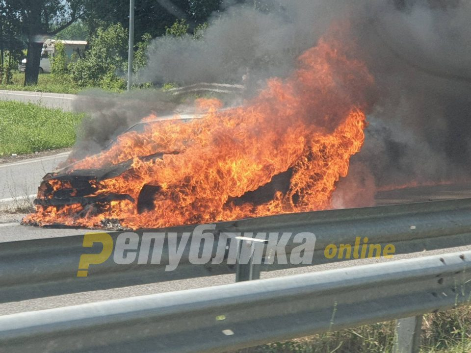 Official car used by the director of the Albanian language agency torched near Skopje