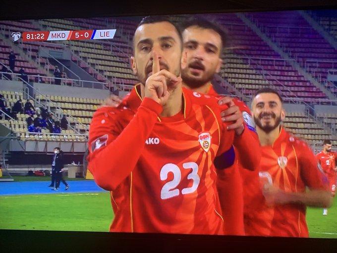 Macedonia beats Lichtenstein 5:0 in the 2022 World Cup qualifier
