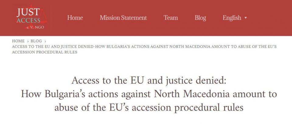 German NGO condemns Bulgaria for blocking Macedonia's EU accession