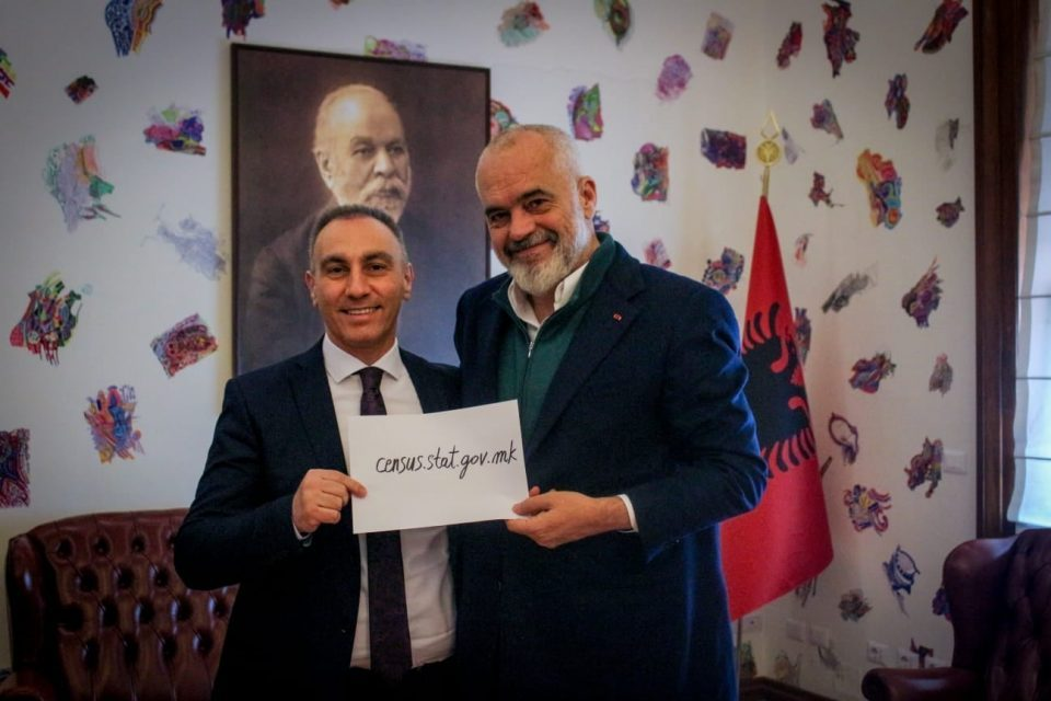 Rama and Grubi urge Albanians to register in the Macedonian census