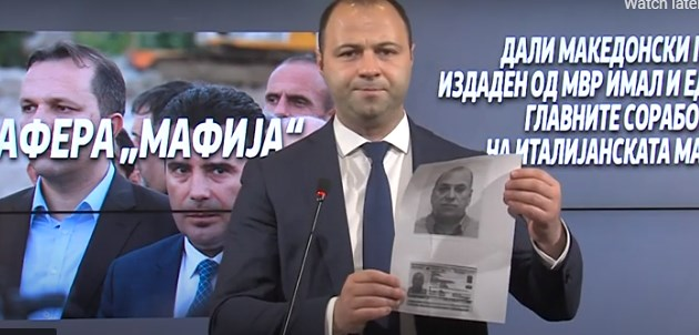 The Zaev regime issued a passport to a top money launderer of the Italian mafia