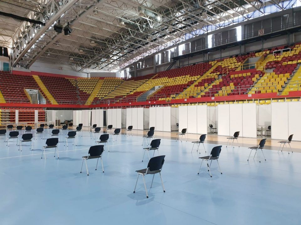 Government decides to set up vaccination hub at Boris Trajkovski sports center