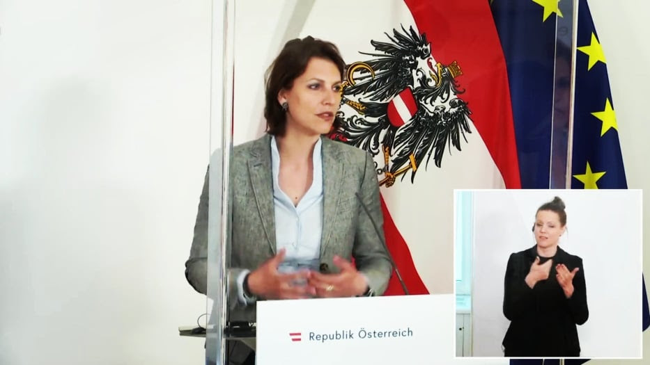"""Austrian Minister Edstadler offers Vienna as """"neutral site"""" for talks between Macedonia and Bulgaria"""