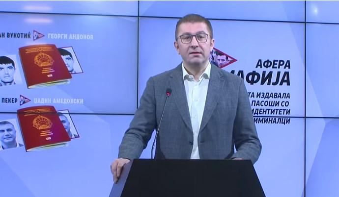 Mickoski: Balkan drug lords were given Macedonian citizenships