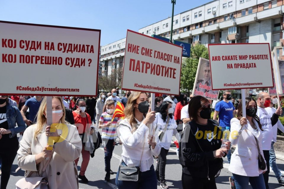 Protesters demand release of the imprisoned patriots and early elections in October
