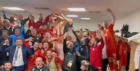 Loud celebrations in Duisburg as all of Macedonia and global football stars bow to the national team