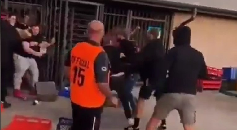 Macedonian and Croatian fans got into a fight during a football match in Sydney