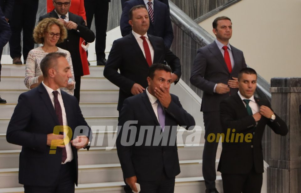 Constant decline of trust in Zaev's government
